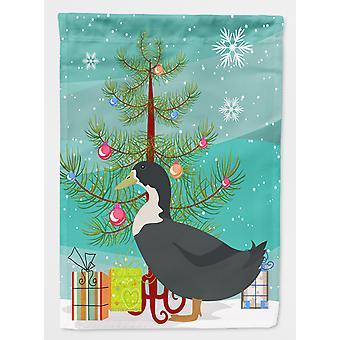 Blå svensk Duck Christmas flagg lerret huset størrelse