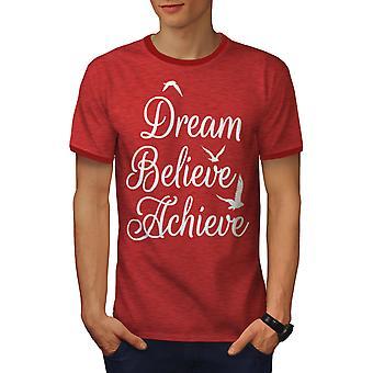 Zu erreichen glauben Männer Heather rot / RedRinger-t-Shirt | Wellcoda