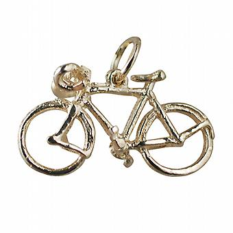 9ct Gold 13x22mm Bicycle Pendant or Charm