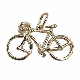 9ct Gold 13x22mm Fahrrad Anhänger oder Charm