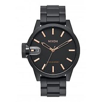 Nixon The Chronicle 44 All Black / Rose / Gold (A441957)