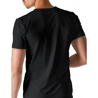 Mey 46102-123 Men's Dry Cotton Black Solid Colour Short Sleeve Top