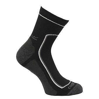 Regatta Mens 2 Pair Active Walking Socks Black RMH031