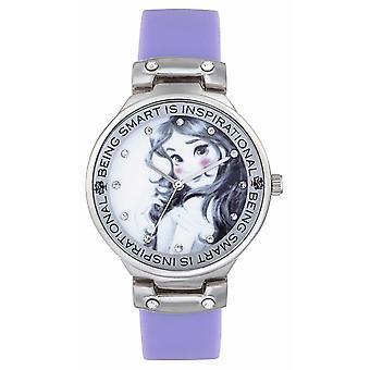 PN1493 horloge met Disney Princess Childrens Disney prinses Belle paarse riem