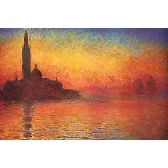Monet schemering Poster Print schemering in Venetië Poster Poster afdrukken