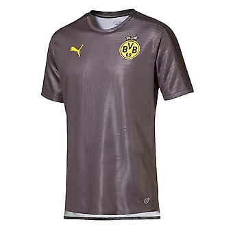 2018-2019 Borussia Dortmund Puma Stadium Shirt (Asphalt) - Kids