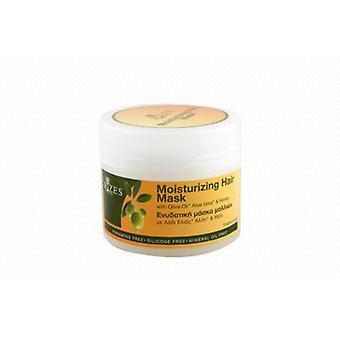 Moisturising hair mask with olive oil, organic aloe vera and honey.