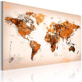 Quadro - Map of the World - Desert storm