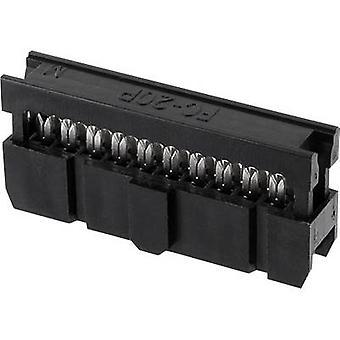 ECON forbinde Pin stik kontakt afstand: 2,54 mm samlede antal stifter: 6 nr. rækker: 2 1 computer(e) bakke