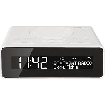 TechniSat DigitRadio 51 راديو المنبه DAB +, FM AUX الأبيض
