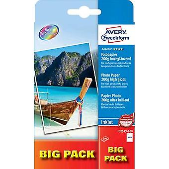 Avery-Zweckform Superior Photo Paper Inkjet BIG PACK C2549-100 Fotopapier 10 x 15 cm 200 g/m² 100 vel Hoogglans
