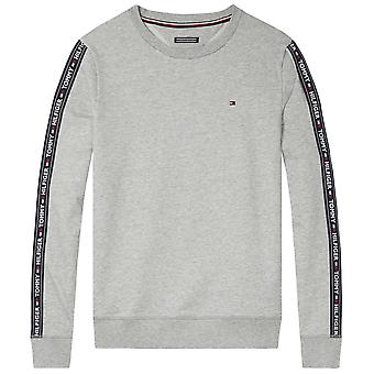 Tommy Hilfiger Long Sleeve HWK Sweatshirt, Heather Grey, Medium