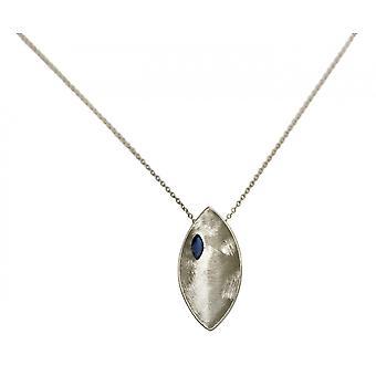 Collana GEMSHINE con ciondolo solido 925 argento con pietra blu iolite