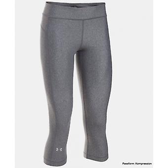 Under Armour Caprihose Damen Short carbon heather 1297905-090
