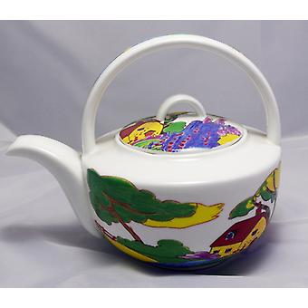 English Bone China Teapot ArtDeco