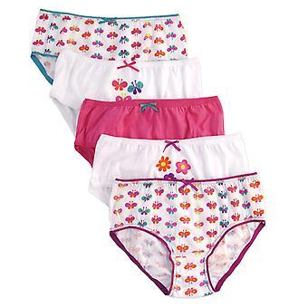 Mädchen Anucci Kinder 100 % Baumwolle gedruckten Briefs Hosen Unterwäsche 5 Pack