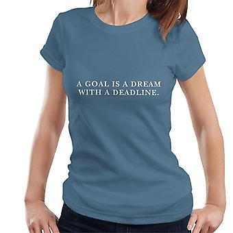 Cel to marzenie z T-Shirt dla kobiet cytat termin Napoleon Hill