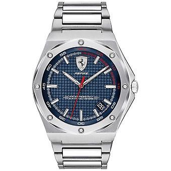 Scuderia Ferrari Mens Aspire aço inoxidável Dial azul Data Display 0830530 Watch