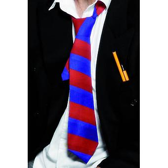 Smiffy's School Tie Red And Blue