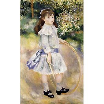 Girl with a Hoop, Pierre Renoir, 60x40cm