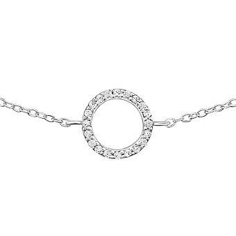 Circle - 925 Sterling Silver Chain Bracelets - W31519x
