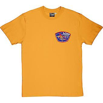 Mir Mission Insignia Yellow Men's T-Shirt