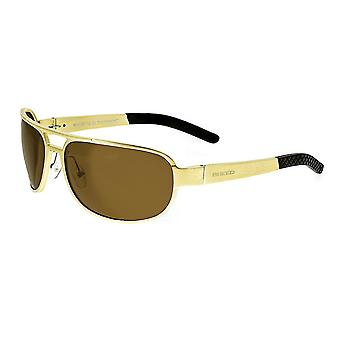 Breed Xander Aluminium Polarized Sunglasses - Gold/Brown
