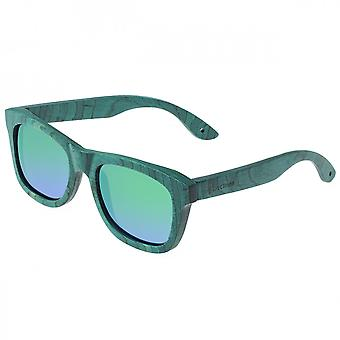 Spectrum Hamilton Wood Polarized Sunglasses - Teal/Blue-Green