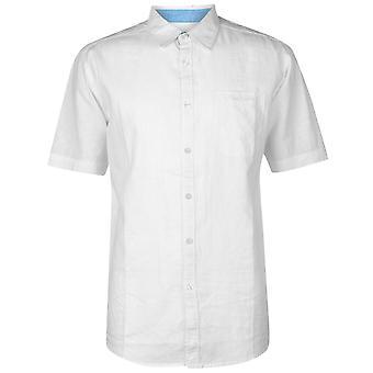Pierre Cardin heren korte mouw linnen Shirt Casual Tops