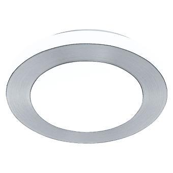 Eglo - LED 11w Carpi decoratieve geborsteld Aluminium ronde badkamer plafond licht EG94967