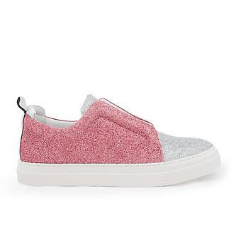 Pierre Hardy Js02slidersilverpink Femmes-apos;s Silver Glitter Slip On Sneakers