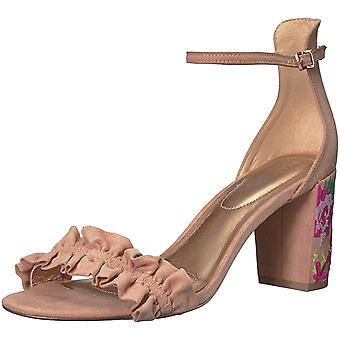 Kenneth Cole Reaction Womens Rise Ruffle Fabric Open Toe Special Occasion Ankle Strap Sandals