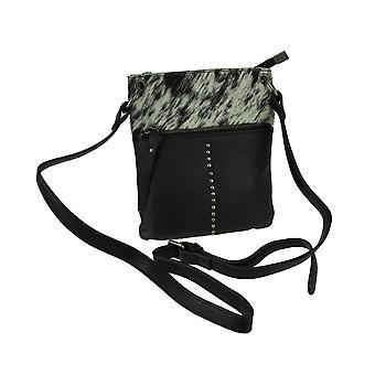 Genuine Hair-On Genuine Leather Crossbody Bag Small