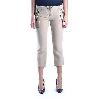 Frankie Morello Ezbc167066 Women's Beige Cotton Pants