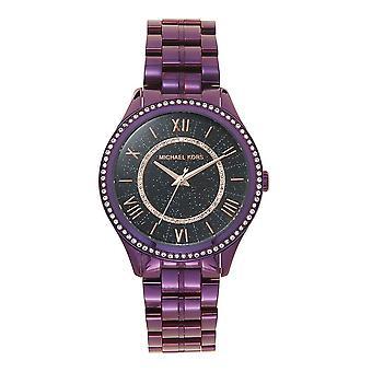 Michael Kors Watches Mk3724 Lauryn Purple, Black & Rose Gold Ladies Watch