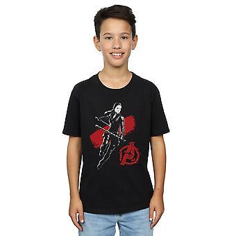 Marvel Boys Avengers Endspiel Mono Black Widow T-Shirt