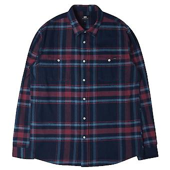 Edwin Labour Flannel Shirt  Oxblood Red