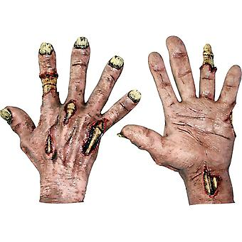 Zombie Flesh Latex Hands For Adults