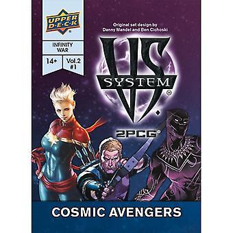 Vs. sistema Cosmic Avengers jogo de cartas