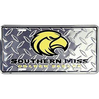 Southern Miss Golden Eagles NCAA «Diamond» plaque d'immatriculation