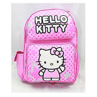 Rucksack - Hello Kitty - Pink Stars & Dot Sitting (Große Schultasche) Neu 81397