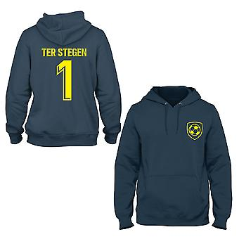 Marce-Andre ter Stegen 1 Barcelona Style Player Kinder Hoodie