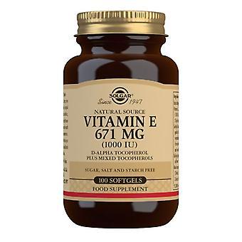 Solgar Vitamin E 671mg (1000iu) Mixed Softgels 100 (3561)