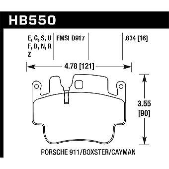 Hawk prestaties HB550G. 634 DTC-60
