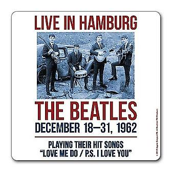 The Beatles Coaster 1962 Hamburg poster new Official 9.5cm x 9.5cm single drink