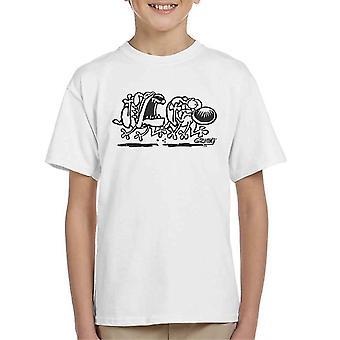 Grim My dog Chase Kid's T-shirt