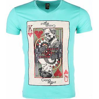 T-shirt-James Bond Casino Royale Print-Green