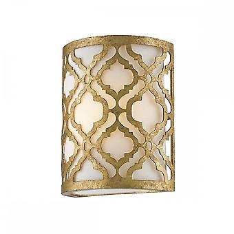 Gilded Nola Gilded Nola Arabella Single Wall Light - Distressed Gold