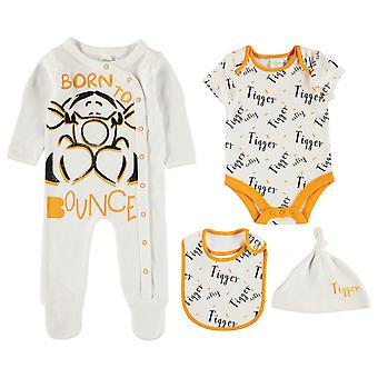 Caractère Baby Kids 4 Piece Romper Rompers Sleep Suit Long Sleeve Cotton Print