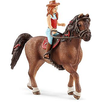 Schleich 42514 Sarah & Mystery Horse Club Figura